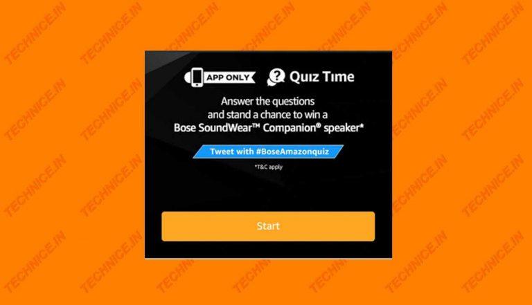 Amazon Bose SoundWear Companion Quiz Answers