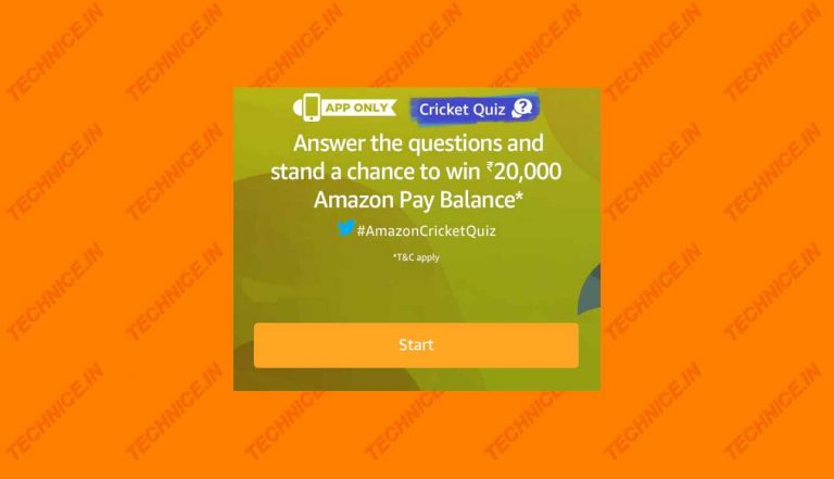 Amazon Cricket Quiz Answers Win Rs 20000