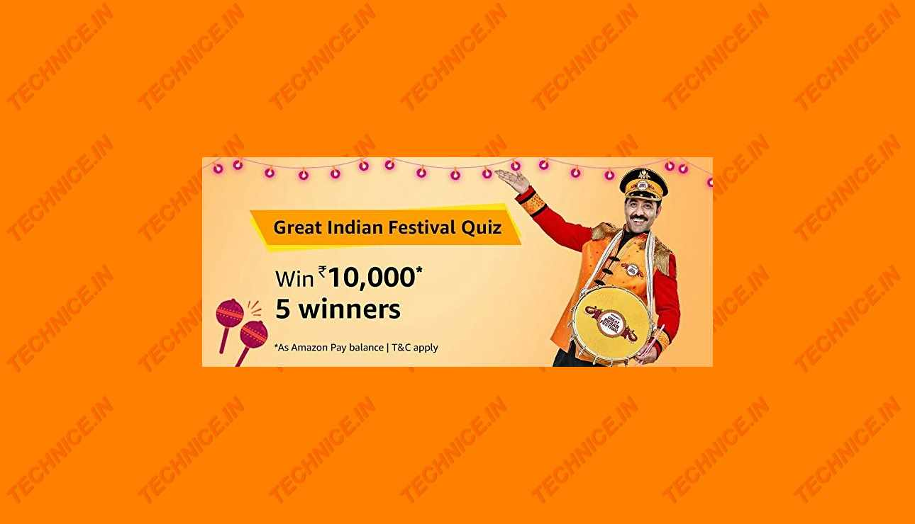 Amazon Great Indian Festival Quiz Answers Win Rs 10000