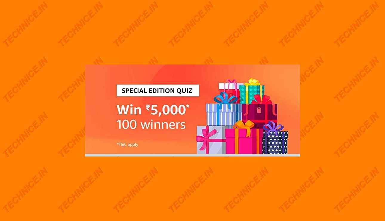 Amazon Rs 5000 Special Edition Quiz Answers