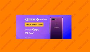 Amazon Oppo F9 Pro Quiz Answers