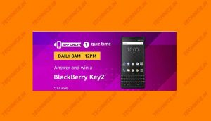 Amazon BlackBerry Key2 Quiz Answers