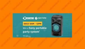 Amazon Sony Portable Party System Quiz Answers