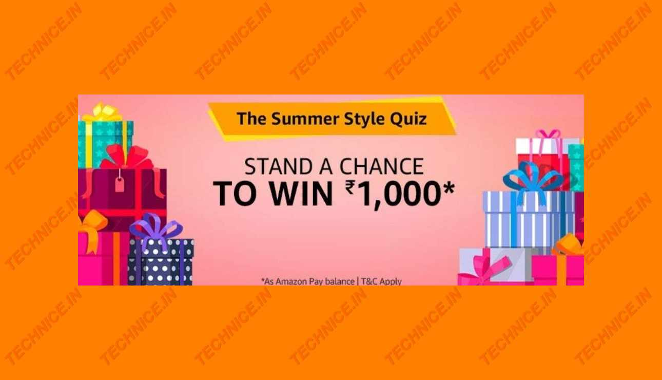 Amazon Summer Style Quiz Answers Win Rs 1000