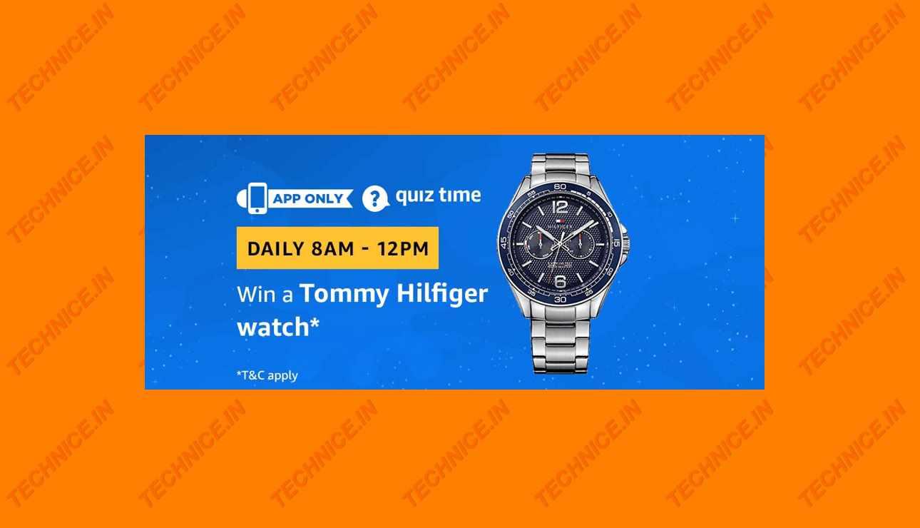 Amazon Tommy Hilfiger Watch Quiz Answers