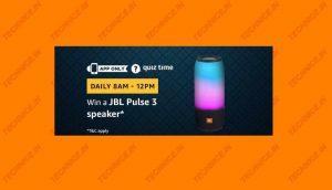 Amazon JBL Pulse 3 Quiz Answers