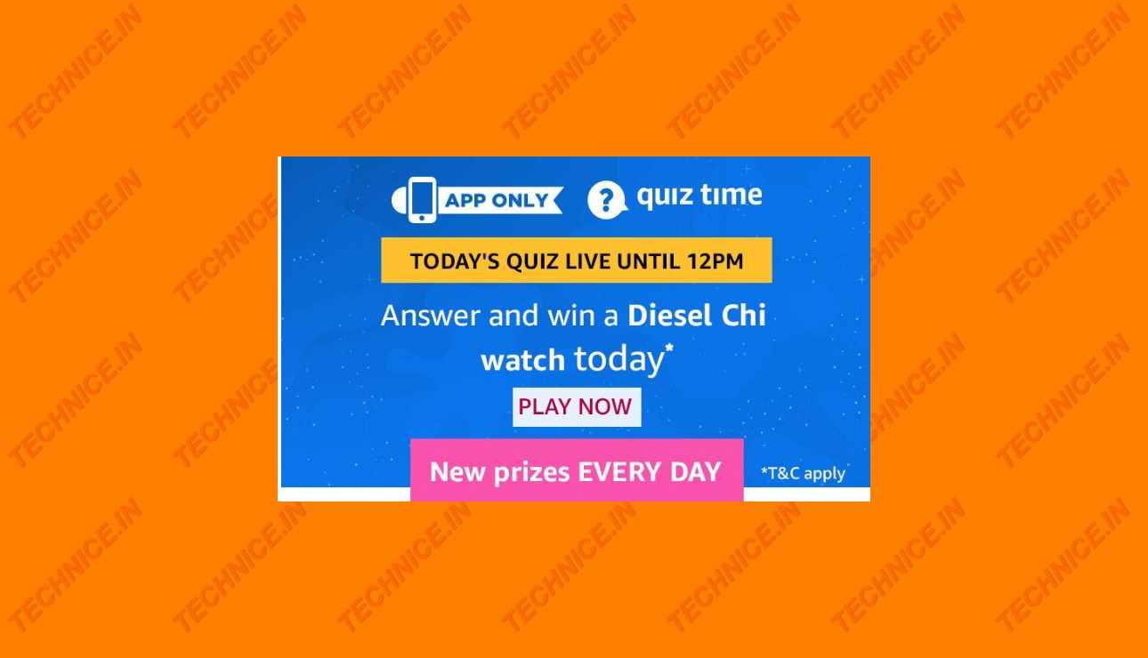 Amazon Diesel Chi Watch Quiz Answers