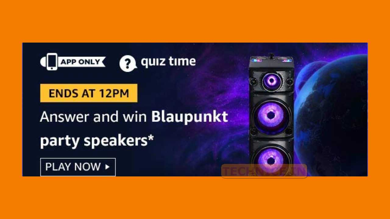 Amazon Blaupunkt Party Speakers Quiz Answers Today Win Blaupunkt Party Speaker Free From Amazon
