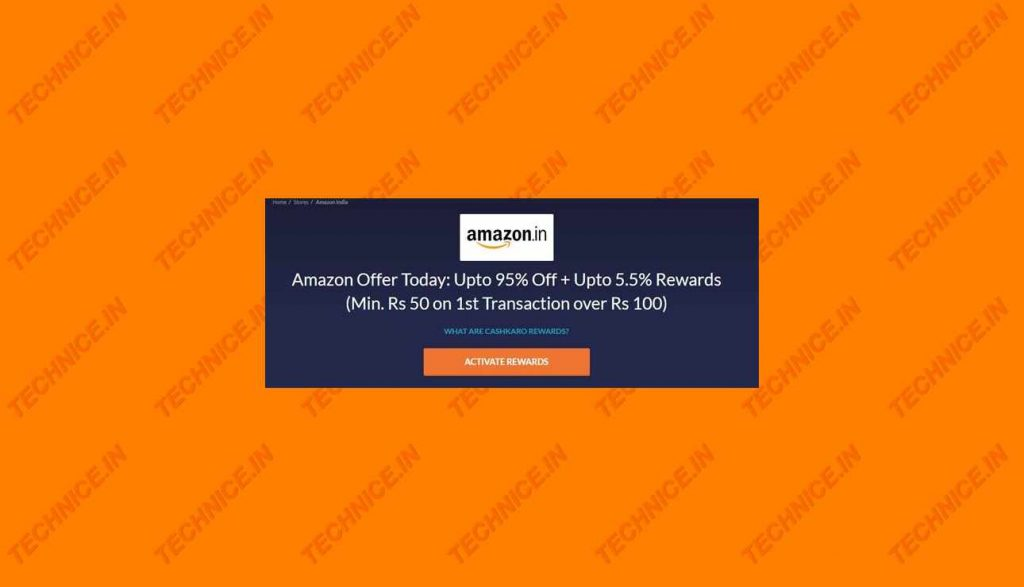 Amazon Cashkaro Offer With Free Cashback