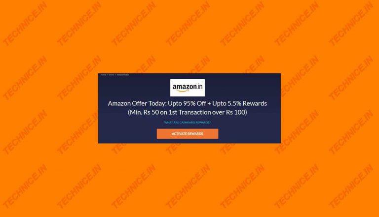 Amazon Cashkaro Offer With Free Cashback