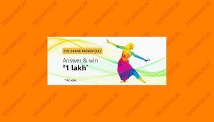Amazon Grand India Quiz Answers Win 1 Lakh