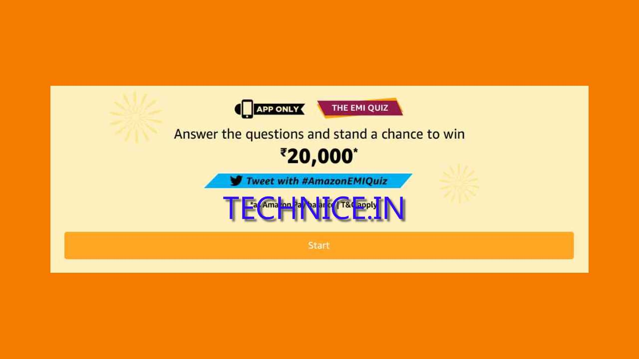 Amazon EMI Quiz Answers 12 September 2019 Answer And Win Rs 20000 Free As Amazon Pay