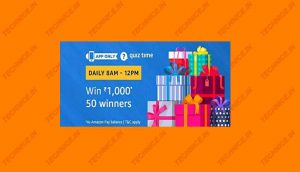 Amazon Rs 1000 Quiz Answers