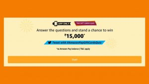 Amazon The Gift Card Quiz Answers 14 September Win Rs 15000 Free As Amaozn Pay