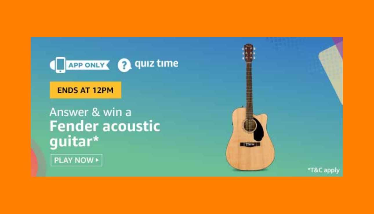 Amazon Fender Acoustic Guitar Quiz Answers