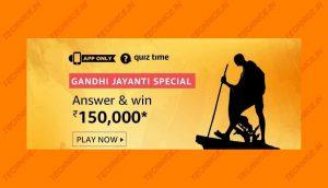 Amazon Gandhi Jayanti Special Quiz Answers