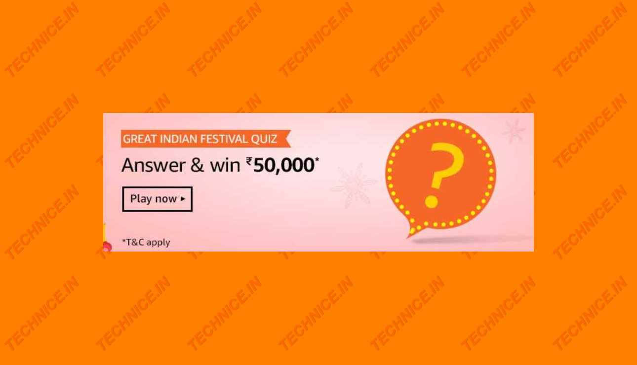 Amazon Great Indian Festival Quiz Answers-2