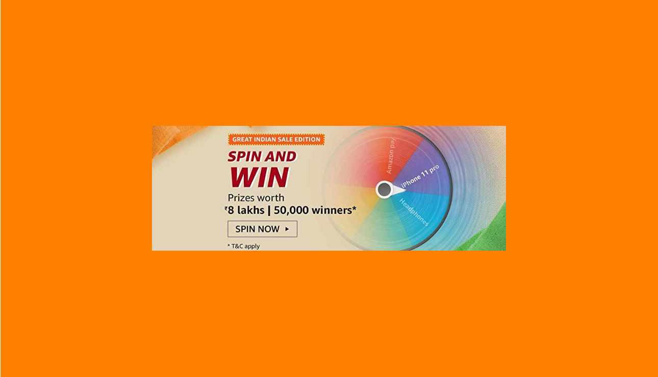 Amazon Great Indian Sale Spin And Win Quiz Answers