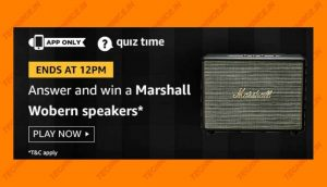 Amazon Marshall Woburn Speaker Quiz Answers