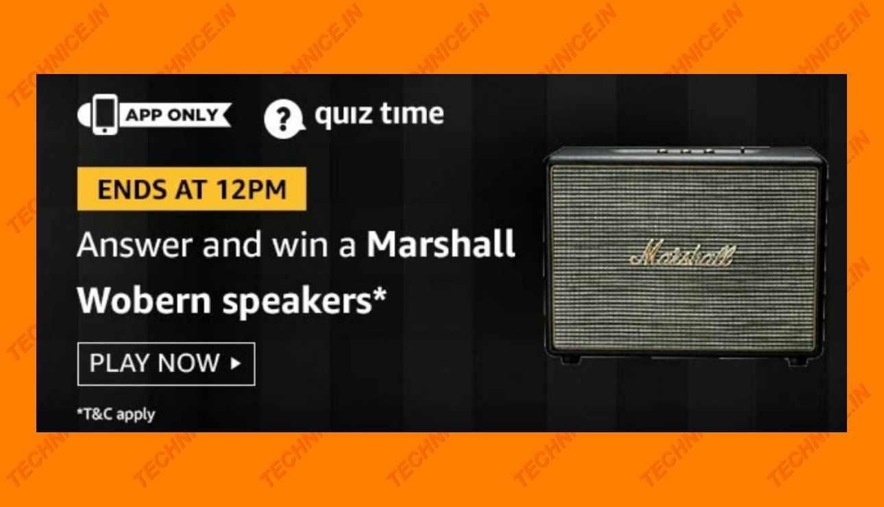Amazon Marshall Woburn Speaker Quiz Answers