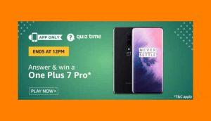 Amazon OnePlus 7 Pro Quiz Answers