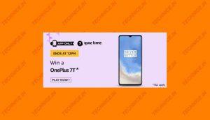 Amazon OnePlus 7T Quiz Answers