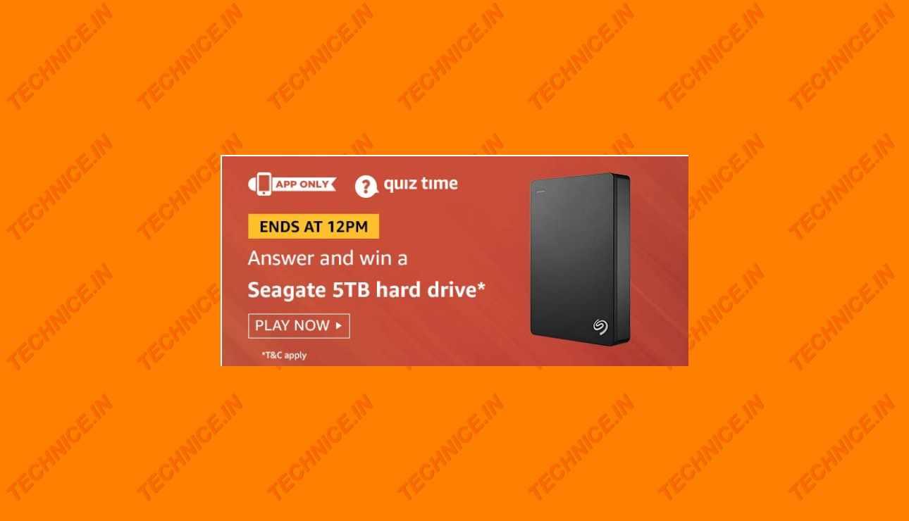 Amazon Seagate 5TB Hard Drive Quiz Answers