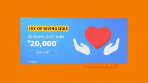 Amazon Joy Of Giving Quiz Answers Win Rs 20000 Today Free