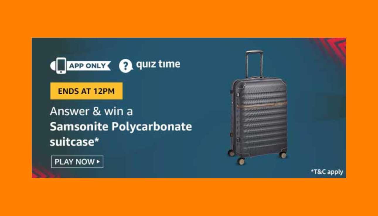 Amazon Samsonite Polycarbonate Suitcase Quiz Answers