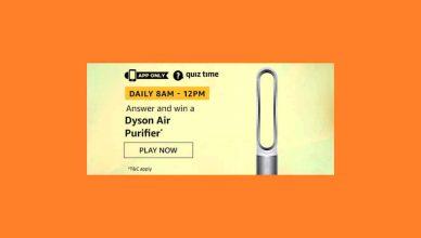 Amazon Dyson Air Purifier Quiz Answers Win Dyson Air Purifier Free