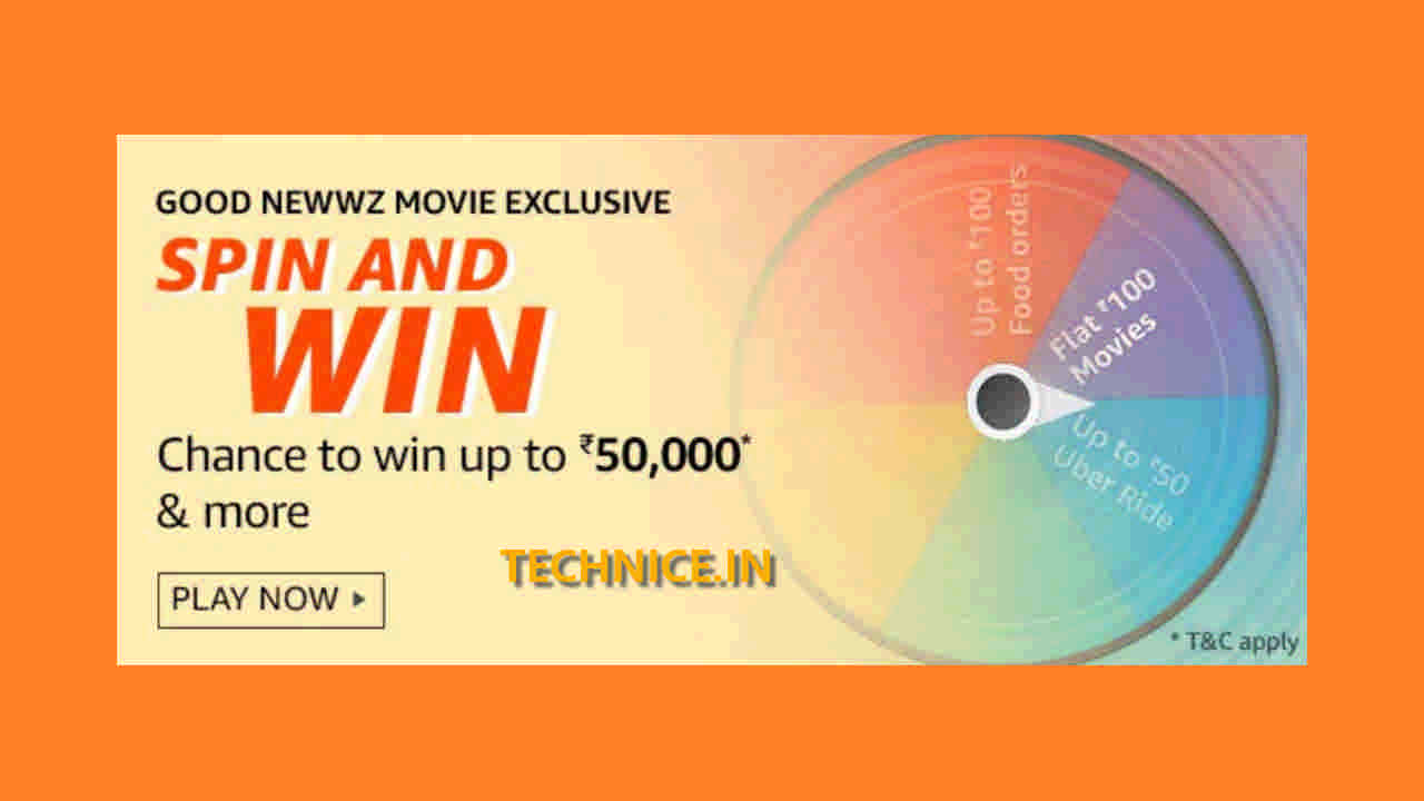 Amazon Good Newwz Movie Exclusive Spin And Win Answers Win Rs 50000 Free