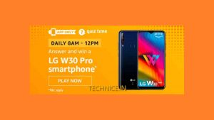 Amazon LG W30 Pro Quiz Answers Today Get LG Phone Free From Amazon