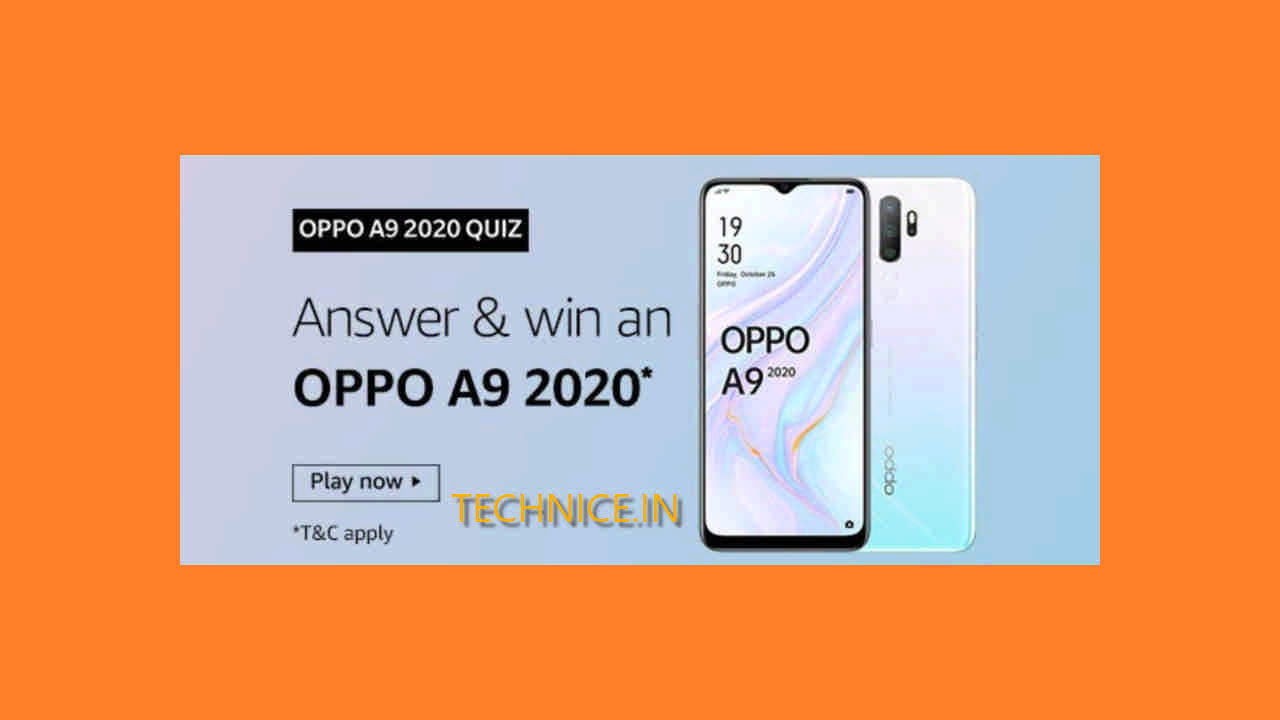 Amazon Oppo A9 Quiz Answers Get Oppo Phone Free