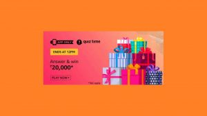 Amazon Rs 20000 Quiz Answers Today Win Rs 20000 Free
