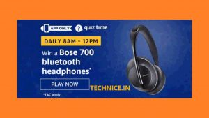 amazon Bose 700 Headphones Quiz Answers Win Free Headphones