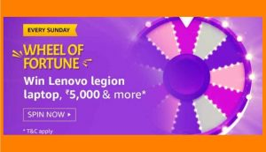 Amazon Wheel Of Fortune Answers Win Lenovo Legion Laptop