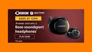 Amazon Bose Soundsport Headphones Quiz Answers