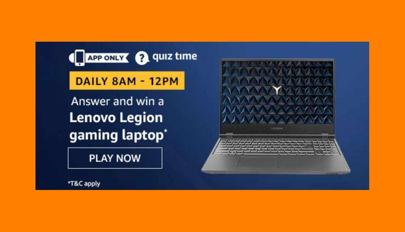 Amazon Lenovo Legion Laptop Quiz Answers
