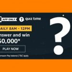 Amazon Rs 50000 Quiz Answers