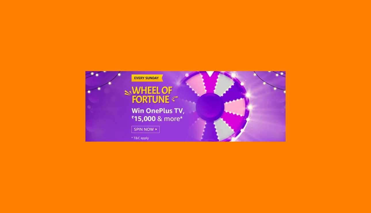 Amazon Wheel Of Fortune Answers Win OnePlus TV