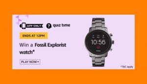 Amazon Fossil Explorist Watch Quiz Answers