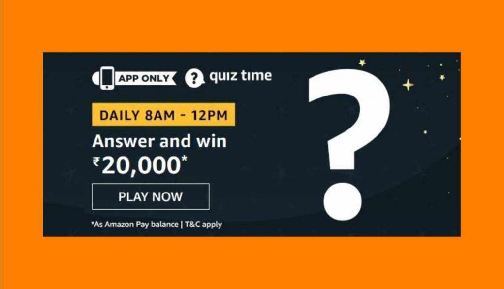 Amazon Rs 20000 Quiz Answers