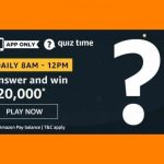 Amazon Rs 20000 Quiz Answers
