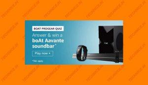 Amazon Boat Progear Quiz Answers Win Boat Aavante Soundbar