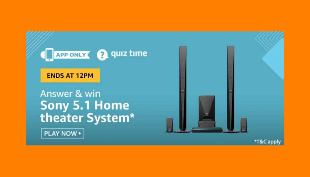 Amazon Sony 5.1 Home Theater System Quiz Answers