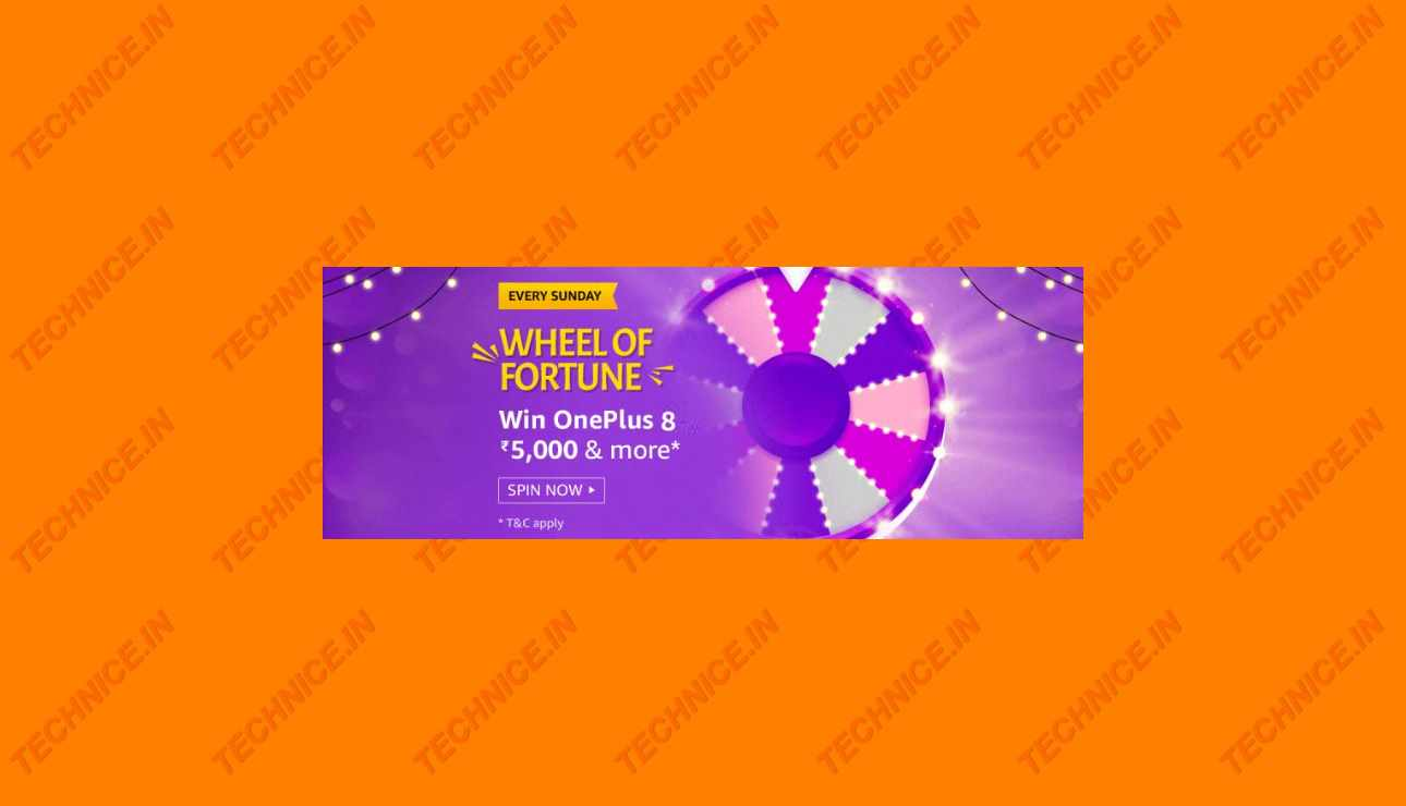 Amazon Wheel Of Fortune Answers Win OnePlus 8 Rs 5000
