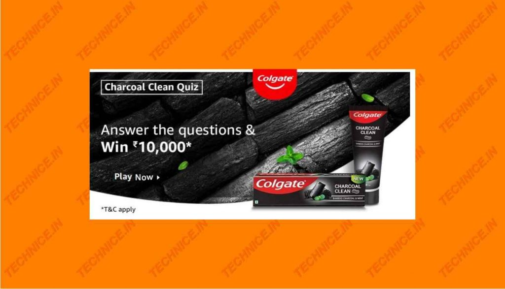 Amazon Charcoal Clean Quiz Answers Win Rs 10000