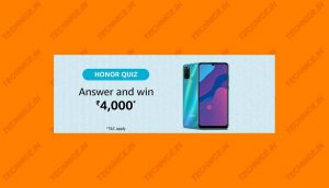 Amazon Honor Quiz Answers Win Rs 4000