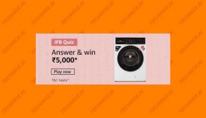 Amazon IFB Quiz Answers Win Rs 5000
