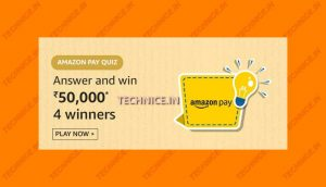 Amazon Pay Quiz Rs 50000 Answers Win Rs 50000